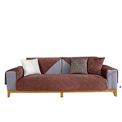 SUWIND Funda Sofa Perro/Funda De Sofá/Cubierta para Sofa Protector para [Vendido por Pieza/No Es Un Juego Completo] Coffee Color 70×150cm(27.56×59.06in)