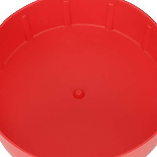 Air Freír Pot Liner Fácil de limpiar Grill Pan para pastel para hornear (rojo)