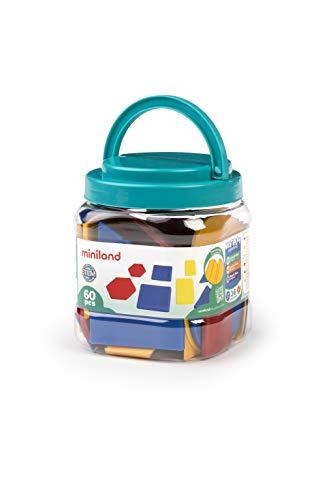 Miniland- Bloques Lógicos Juego de geometría, Multicolor (95044) , color/modelo surtido