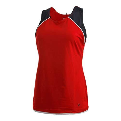 Fila - Camiseta de Tirantes para Mujer, Color Rojo, Azul Oscuro, XL