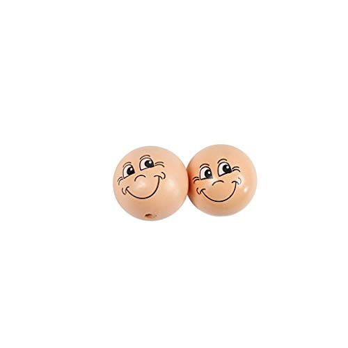 Smiley Balls, D: 30 mm, Bois, 10pcs