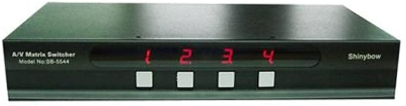 4x4 (4:4) Composite RCA Video + Analog Audio A/V Matrix Switch Switcher SB-5544 by Shinybow