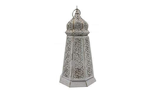 MAGHREBI - Portavelas marroquí, estilo árabe rústico, lámpara decorativa de pie, lámpara de mesa contemporánea marroquí.