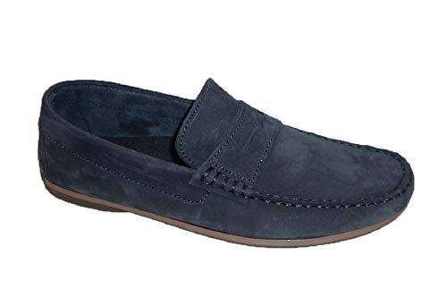 VITELO K100 Zapato Hombre mocasín Antifaz Azul Marino