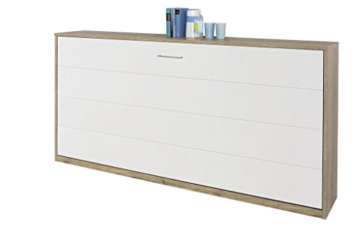 moebel-fhs Querklappbett alpinweiß Klappbett Querklappbett Schrankbett Bett 90x200