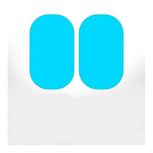 AN Claral Neu 2ST 95x135mm Auto-Seiten-Spiegel wasserdichter Anti-Fog Film Seitenfensterglas Film mit Schaber-Reinigungstuch nass Wiper