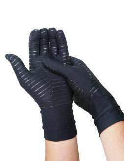 COPPER HEAL Arthrose Kompressionshandschuhe Rheumatischer Karpaltunnelsyndrom volle Handschuhe (XL) (L)