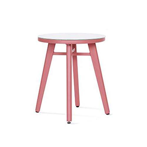 DQMSB Côté Art en Fer Rond Petite Table Basse Moderne Mobile Minimaliste Petite Table Ronde Table de Chevet latérale canapé (Taille : A)
