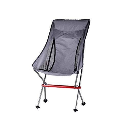 Sillas de camping portátiles de malla transpirable trasera ligera y compacta silla plegable para exteriores bolsa de transporte incluida sillas plegables (color gris) ZJ666 (color: gris)