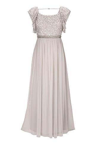 Ashley Brooke Damen Designer-Abendkleid, Silbergrau, Größe:36