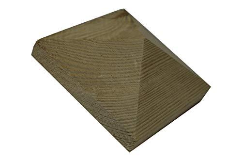 1 X Pfostenkappe Pyramide Holz imprägniert 100X100mm für 90X90mm Pfosten oder 10X10 für 9X9 cm Pfosten