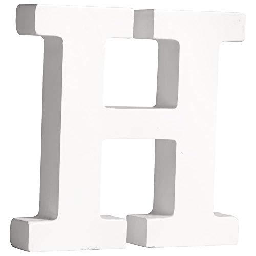 """Rayher 62659000 MDF-Buchstabe """"H"""", weiß, 11 cm, Stärke 2 cm"""