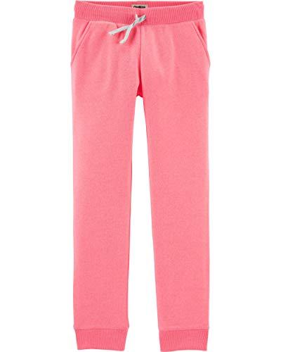 Osh Kosh Girls' Little Logo Pant, Sweet Pink, 8