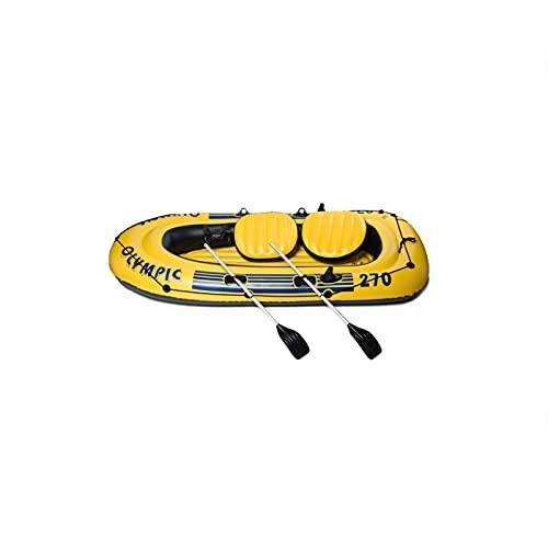 Barco hinchable para tres personas, Kayak para tres personas, bolsa hinchable independiente plegable, gran espacio, adecuado para los lagos, ríos y océanos