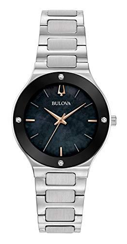 Bulova Reloj Analógico para Mujer de Cuarzo con Correa en Acero Inoxidable 96R231