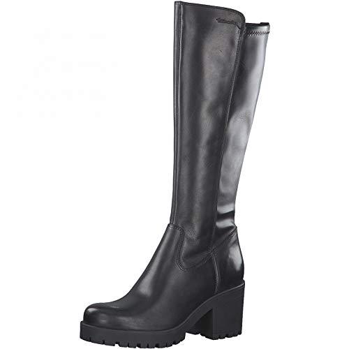 Tamaris Damen Stiefel, Frauen Klassische Stiefel, Boots langschaftstiefel hoher Absatz sexy feminin weiblich Lady Ladies Women\'s,Black,36 EU / 3.5 UK