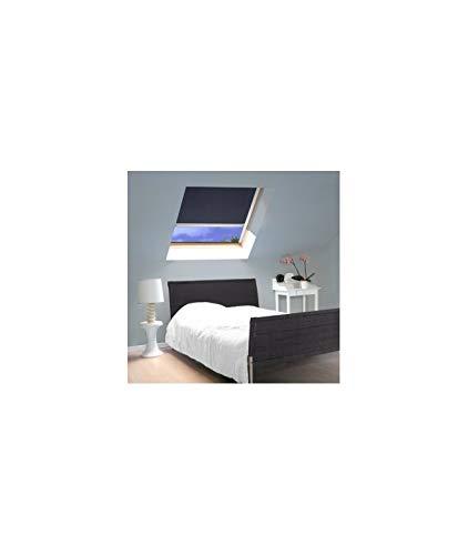 MADECOSTORE Store Enrouleur Occultant Compatible VELUX® K - Bleu foncé - 114 x 118cm - SK06