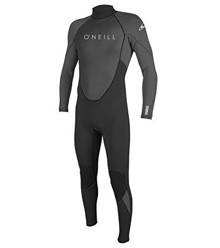 O'Neill Men's Reactor-2 3/2mm Back Zip Full Wetsuit, Black/Graphite, XL