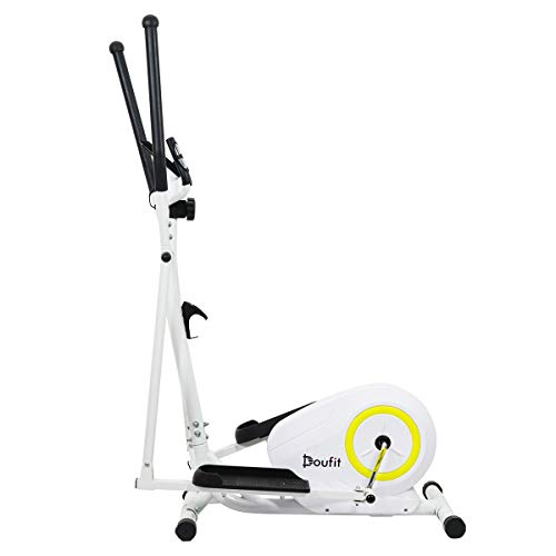 Doufit Elliptical Machine for Home Use, Eliptical Exercise Machine for Indoor Fitness Gym Workout, Adjustable Magnetic Elliptical Cross Trainer with LCD Monitor and Pulse Sensors (Basic) by Doufit