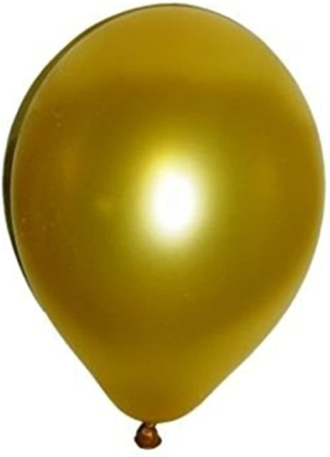 OULII Latex Metallic Balloons, 12 Inch, Pack of 100, golden