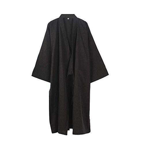 DXX-HR Kimono japonés Larga túnica Yukata Pijamas Bata Camisón-Talla L-02