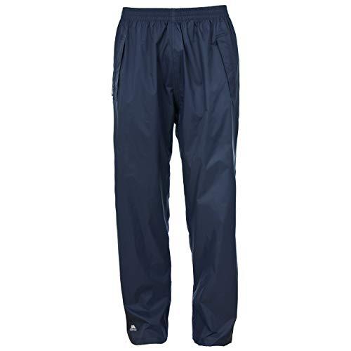 Trespass Qikpac Pant, Dark Navy, M, Kompakt Zusammenrollbare Wasserdichte Regenhose mit 3 Taschenöffnungen für Damen und Herren / Unisex, Medium, Blau