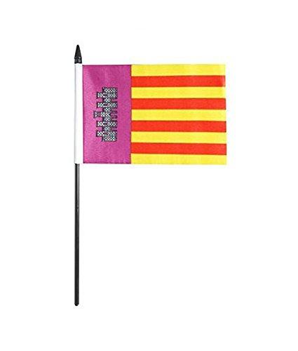Mallorca® GIZZY 15,24 cm x 10,16 cm de la bandera de palo y base