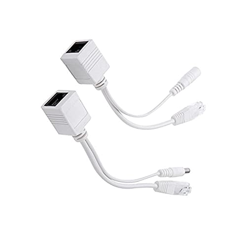 GzxLaY 1 UNIDS Power Over Ethernet Pasivo PoE Adaptador Inyector + Kit Divisor Cable PoE Blanco