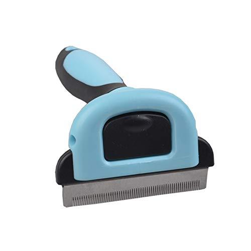Fellpflegebürste für Hunde und Katzen, entfernt Haare, entfernt Haare, Kämme für Haustiere und Katzen, reduziert effektiv Haarausfall (S, blau)