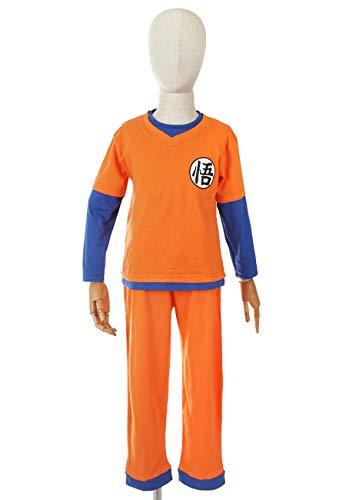 CoolChange Pijama para niños de Dragon B. Pijama de Son Goku para niños y niñas, Talla 120