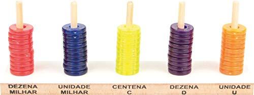 Carlu Brinquedos - Ábaco Aberto Jogo para Aprender Matemática, 4+ Anos, Multicolorido, 1930