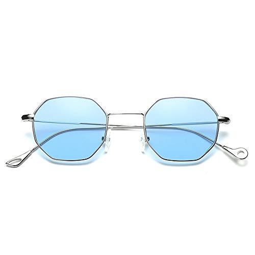 Topgrowth Donna Uomo Moda Metal Irregolarità Occhiali Da Sole (Blu)