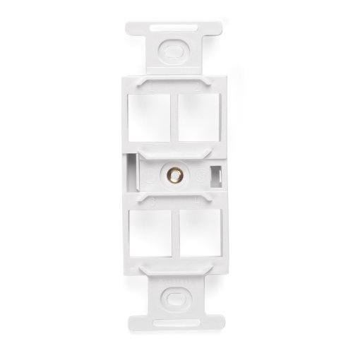 Leviton 41087-QWP QuickPort Duplex Type 106 Insert, 4-Port, White