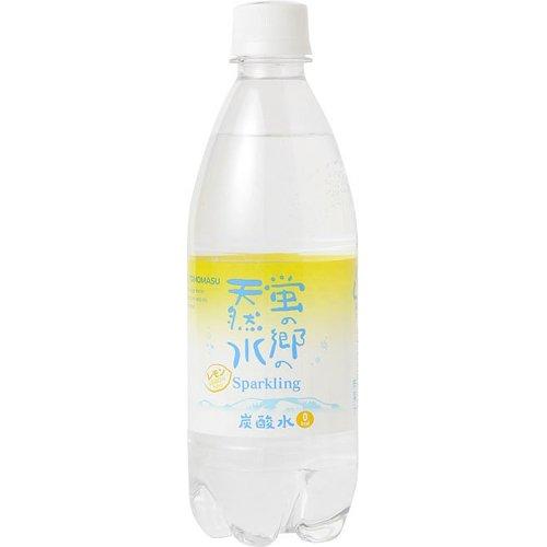 友桝飲料 蛍の郷の天然水 スパークリング レモン 500ml×24本