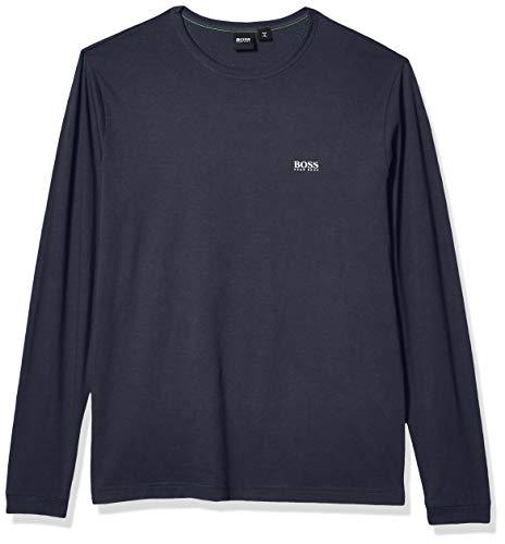 Hugo Boss Herren Crew Neck Long Sleeve Cotton Sweater Pullover, Marineblau mit Weiß, 3X-Groß