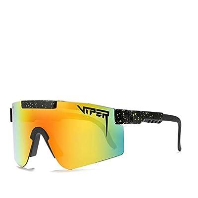 Original Pit Viper Sport Google Polarized Sunglasses for Men and Women Outdoor Windproof Eyewear Uv Mirrored Lens (C6)