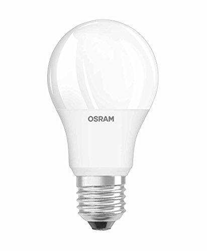 OSRAM GLOWdim LED-Lampe, klassische Form, E27-Sockel, 10 W 60 W-Äquivalent, 220-240 V, mattiert, dimmbar von warmweiß 2700 K bis extra heiß 2300 K, 1er-Pack