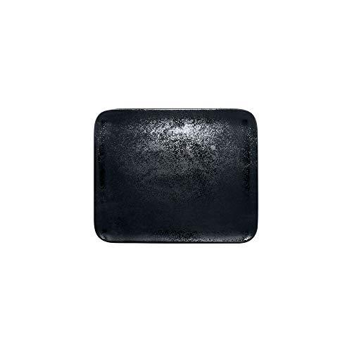 RAK 637402 Lot de 6 écharpes droites en carbone Noir mat 330 mm x 270 mm