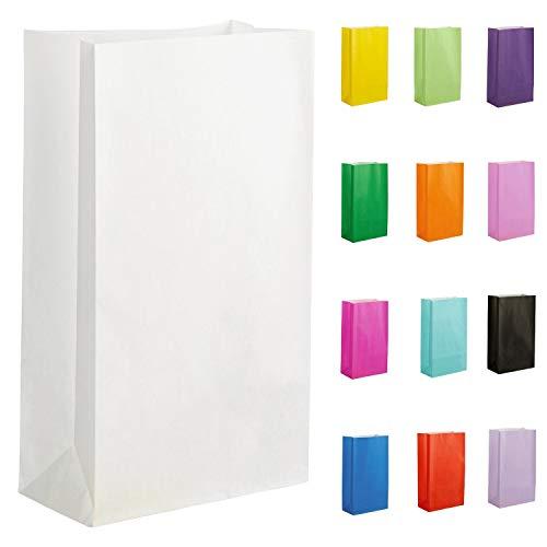 Thepaperbagstore 10 Papiertüten für Partys und Geschenke - Weiß - 140x245x70mm