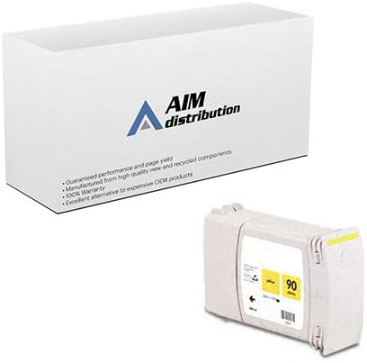 AIM Compatible Replacement for HP NO. 90 Yellow Inkjet (400 ML) (C5064A) - Generic