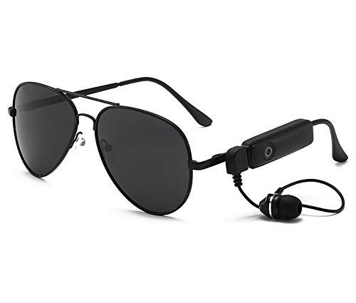 JEANMISS Gafas De Sol Polarizadas, Auriculares Bluetooth Gafas De Sol Auriculares Inalámbricos con Música Auriculares USB Manos Libres para Exteriores Gafas De Sol, con Bluetooth, Auriculares,