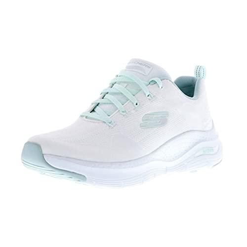 Skechers Sport Womens Arch FIT Comfy Wave Sneakers Damen Weiß, Schuhgröße:38 EU