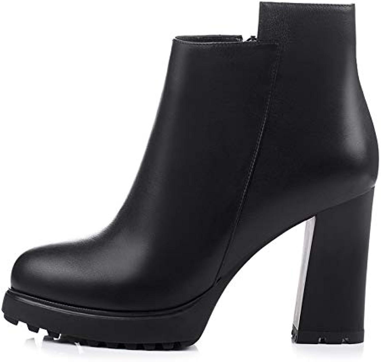 HOESCZS HOESCZS echtes Leder Dropship plattform Mode Party Stiefel Frauen Schuhe High Heels Frau Schuhe Stiefeletten,  Nr.1 online