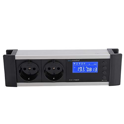 Termostato Digital, Controlador de Temperatura de Reptil portátil Profesional, Pantalla LCD de incubadora de Acuario Impermeable para Anfibios de(220V 10A European Standard)