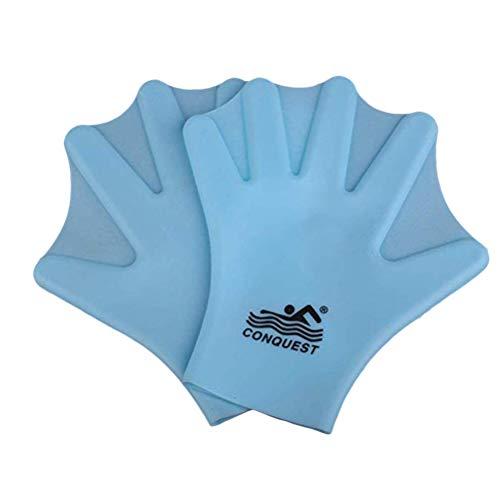 LIOOBO Silikon-Schwimmhandschuhe Webbed Aquatic Fit Traning Handschuhe Paddel Tauchhandschuhe Hand Web 1 Paar
