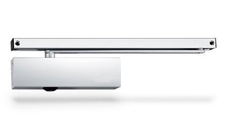 GEZE Türschließer, TS 3000 V, mit Gleitschiene, weiß