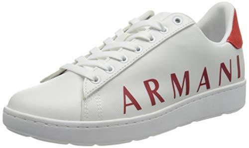 Armani Exchange Copenhagen Logo Low Top, Sneaker Mujer, OP.White+Red, 38 EU