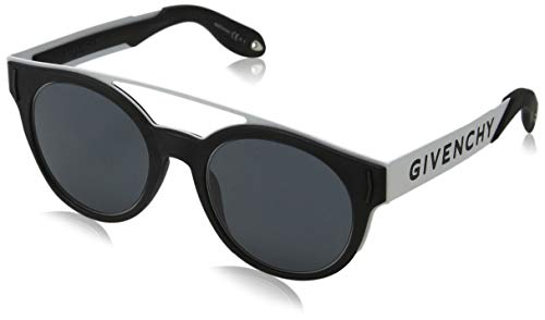 Givenchy GV 7017/N/S IR 80S 50 Occhiali da Sole, Nero (Black White/Grey), Unisex-Adulto