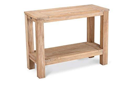 BEST 52377067 Teak-Sideboard Moretti 100 x 42 cm, grau wash