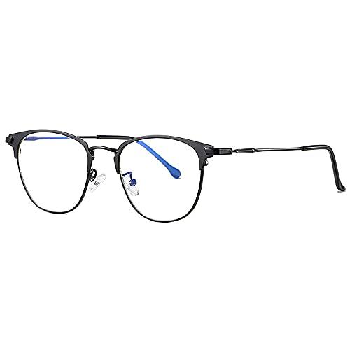 Gafas Anti Luz Azul para Computadora, Gafas Vintage Anti Dolor de Cabeza Unisex para Mujeres y Hombres para Pantallas Digitales